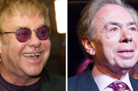 Andrew Lloyd Webber and Elton John working on Joseph and the Amazing Technicolour Dreamcoat film