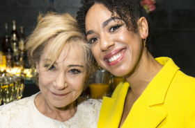 Kristin Scott Thomas joins the cast of The Birthday Party to celebrate West End opening night