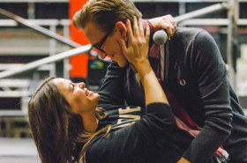 Matt Willis, Carrie Hope Fletcher and Tom Fletcher in rehearsals for The Christmasaurus