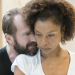 Ralph Fiennes and Sophie Okonedo in rehearsals for Antony and Cleopatra at the National