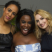 Uzo Aduba, Zawe Ashton and Laura Carmichael celebrate The Maids opening night