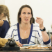 Miranda Hart and cast in rehearsals for Annie