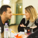 Kimberley Walsh and Ben Forster rehearse Elf