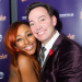 Craig Revel Horwood and Alexandra Burke celebrate Sister Act gala