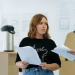 Tanya Burr and the cast of  Judy Upton's Confidence in rehearsals