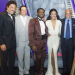 Berry Gordy and Smokey Robinson celebrate opening night with Motown cast