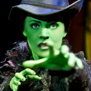 Rachel Tucker plays Elphaba in <em>Wicked</em> on Broadway