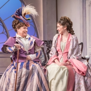Jennifer Saunders, Samantha Spiro, Kevin Bishop and Joseph Marcell in <em>Lady Windermere's Fan</em>