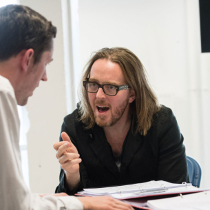 Tim Minchin in rehearsals for <em>Groundhog Day</em>
