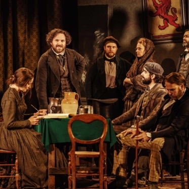 First look at Bridge Theatre's <em>Young Marx</em>