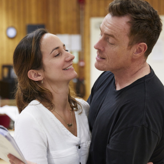 Exclusive: First look at Toby Stephens and the cast of Oslo in rehearsals