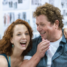 First look at Michael Ball and Rebecca LaChance rehearsing for <em>Mack and Mabel</em>