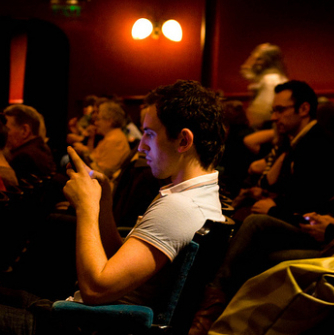 Theatre etiquette: an angry audience member