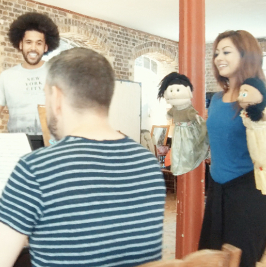 "<em>Spamilton</em> sneak peek at ""The Schuyler Puppets"" in rehearsals"