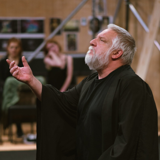 Exclusive first look: Simon Russell Beale rehearses <em>The Tempest</em>