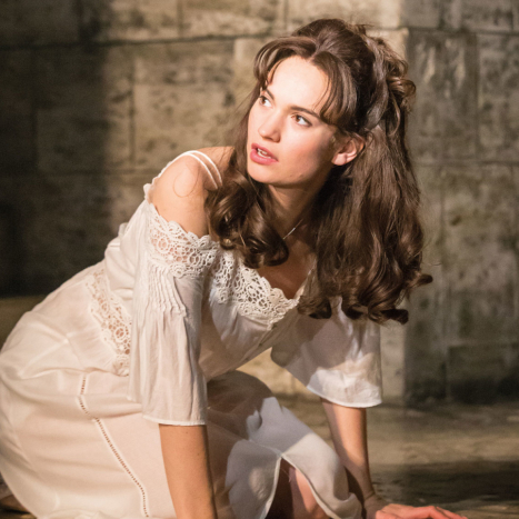 First look: Lily James in <em>Romeo and Juliet</em>